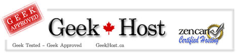 GeekHost.ca - Zen Cart and PCI Compliant Web Hosting